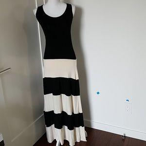 New no tag Karina Grimaldi maxi stripe dress small